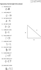 7-Trigonometry Find Length of Unknown Solutions