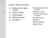 3. Labor Movements