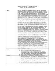 case study of oncale v sundowner Oncale texting oncale v sundowner offshore services, inc: case summary relationship between the parties involved in the case  case study -- part a - preparing a .
