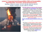 Lecture 5 - (Topics 8 and 9 -  Corporate Social Responsibility and Sustainablity) - PRESENTATION - J