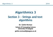 Algorithmics 3 Section 3 Notes (Strings and Text Algorithms)