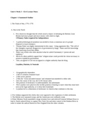 Unit 4 Week 3 Ch6 Lecture Notes
