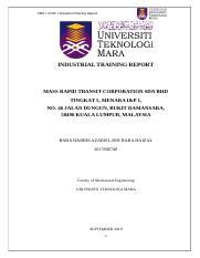 Industrial Training Report Pdf Fkm Uitm Industrial Training Report Industrial Training Report New Horizon Resources M Sdn Bhd Lot Course Hero