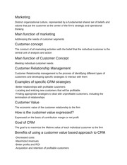 Customer Relationship Management Notes