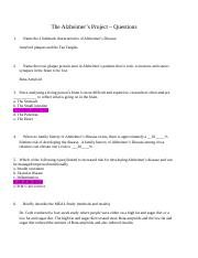 NUTR 1113 The Alzheimers Project Questions.docx
