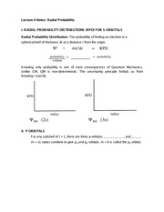 Lecture 6 Notes Radial Probability