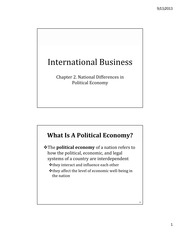 IB Chapter 02 - Differences in Political Economy