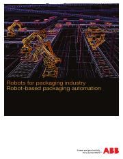 Robots for packaging industry_robotics_Discrete automation and motion division_ABB