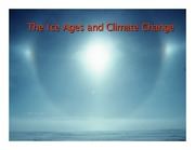Lecture 16 - The Ice Ages And Climate Change