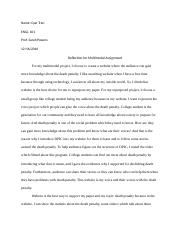 reflection for multimodal assignment- Que Tran .docx