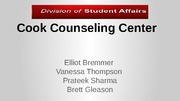 cook counseling presentation and Information