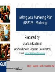 BSB126 - Preparing a Marketing Plan Sem One 2016.pptx