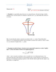 Physics 325 Spring 2011 Homework 7