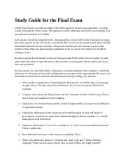 Study Guide for the Final Exam.docx