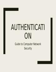 Networking - Authentication