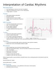 Interpretation of Cardiac Rhythms.docx