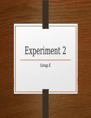 Experiment 2 power point