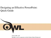 Designing an Effective PowerPoint-Quick Guide