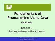 Fundamentals Of Programming Using Java Edward Currie Pdf Download