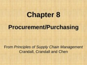 Chapter 08 Procurement Purchasing PSCM2E
