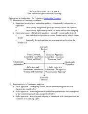 Organizational Leadership(4)