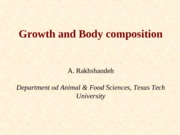 Growth and Body Composition