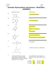 OC03-Aromatic Hydrocarbons-Worksheet-ANSWERS.docx