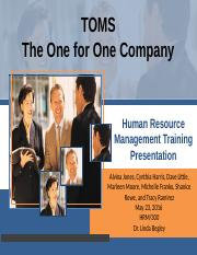 HumanResourceManagmentTrainingPresentation no.1
