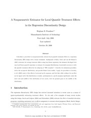 RD Local Quantile Effects