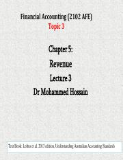 Topic 3 L03 ch05  Revenue March 19