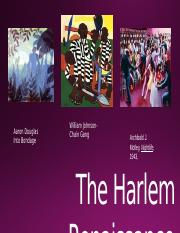 The Harlem Renaissance(1)