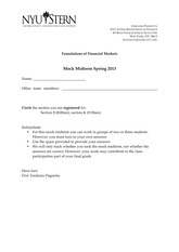 Solutions to MockMidterm_Spring13