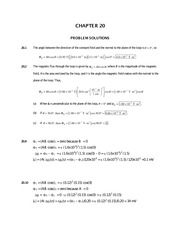 Chapter 20 Homework Solutions