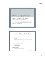 6. Chapter 13. Equity Valuation