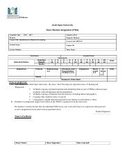 BE210- TMA - PT3 Form - First 2016-2017