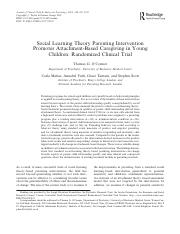 Unit 5 Social Learning Theory Clinical Trial