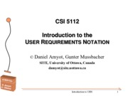 Lecture USER REQUIREMENTS NOTATION for Precise Modeling with UML