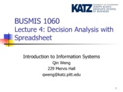 Lecture 4-Decision Analysis with Excel(1)