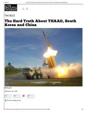 The Hard Truth About THAAD, South Korea and China _ The National Interest Blog.pdf