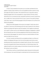 How to write a manuscript speech