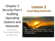 Chap03 Security I Auditing OS & Networks - Lesson 2 - no question
