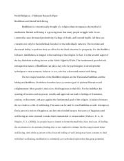 Phil 3640 Paper #2 Buddhism.docx