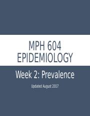 Week 2_Morbidity and Mortality_Prevalence_090517.pptx