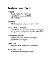 Study Guide on Instruction Cycle