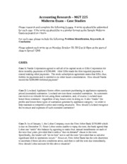 Midterm Cases - Fall 2013