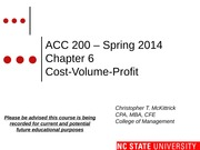 #10 CH6 MOODLE ACC200 C-V-P Spring 2014