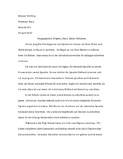German Essay (Morgan)