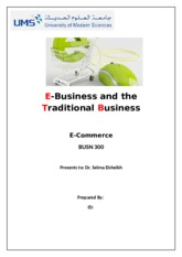 E-Business and the Traditional Business.docx