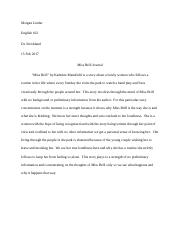 Morgan Linder miss brill journal