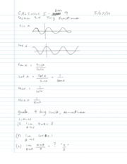 3.4 - Derivatives of Trigonometric Functions
